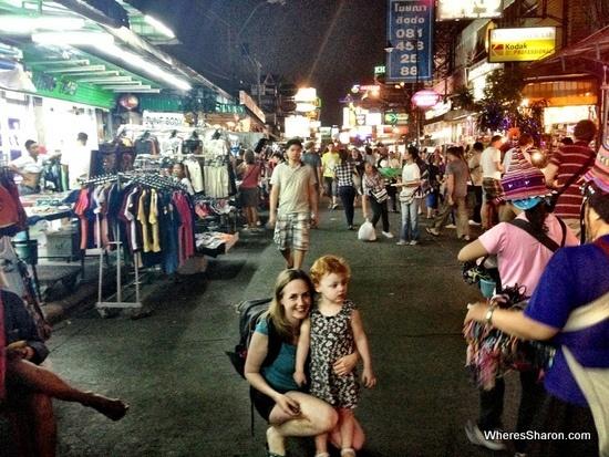 bangkok khao san road with kids