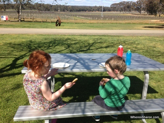 Balgownie winery with kids