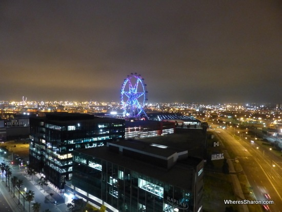 View of Melbourne Star and Melbourne at night