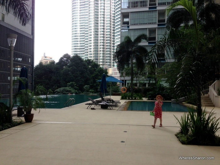 pool at marcs apartment with petronas towers