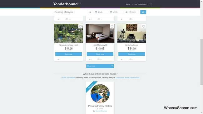 Finding Yonderboxes in hotel search results