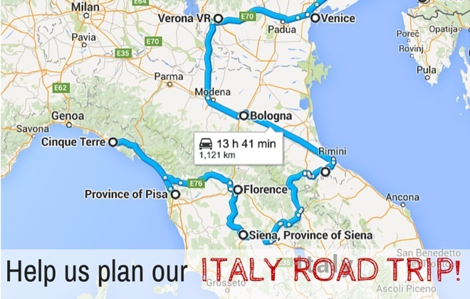 Help us plan our Italy Road trip