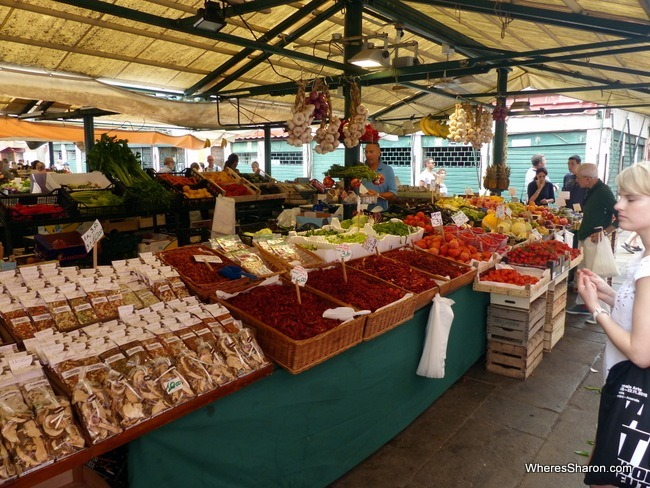 A wide range of produce at the Rialto Market.