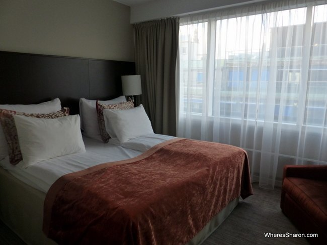 main bedroom in famiily suite at Clarion Hotel Royal Christiania review