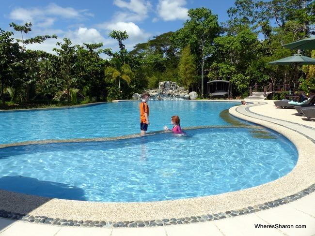 pool at Loboc River Resort