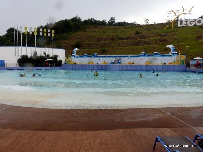wave pool at Legoland Water Park Malaysia