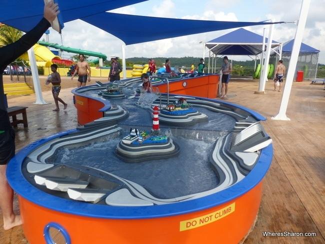 Boat racing table at Legoland Water Park Malaysia