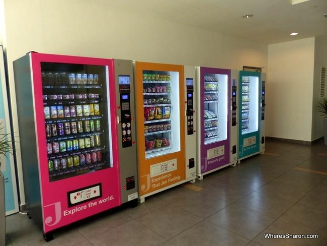 vending machines at Hotel Jen Puteri Harbour