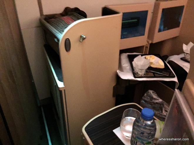 Etihad A330 business class bassinet