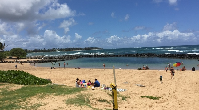 Lydgate Beach things for kids to do in hawaii