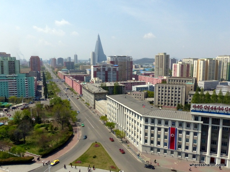 Pyongyang from above the Arch of Triumph