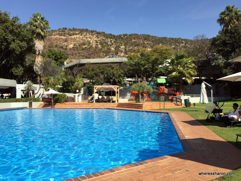 One of Sun City's many pools, this one by the Cabanas. You can't use it on a day vist Sun City but its a cool things to do in sun city johannesburg if you are staying here.