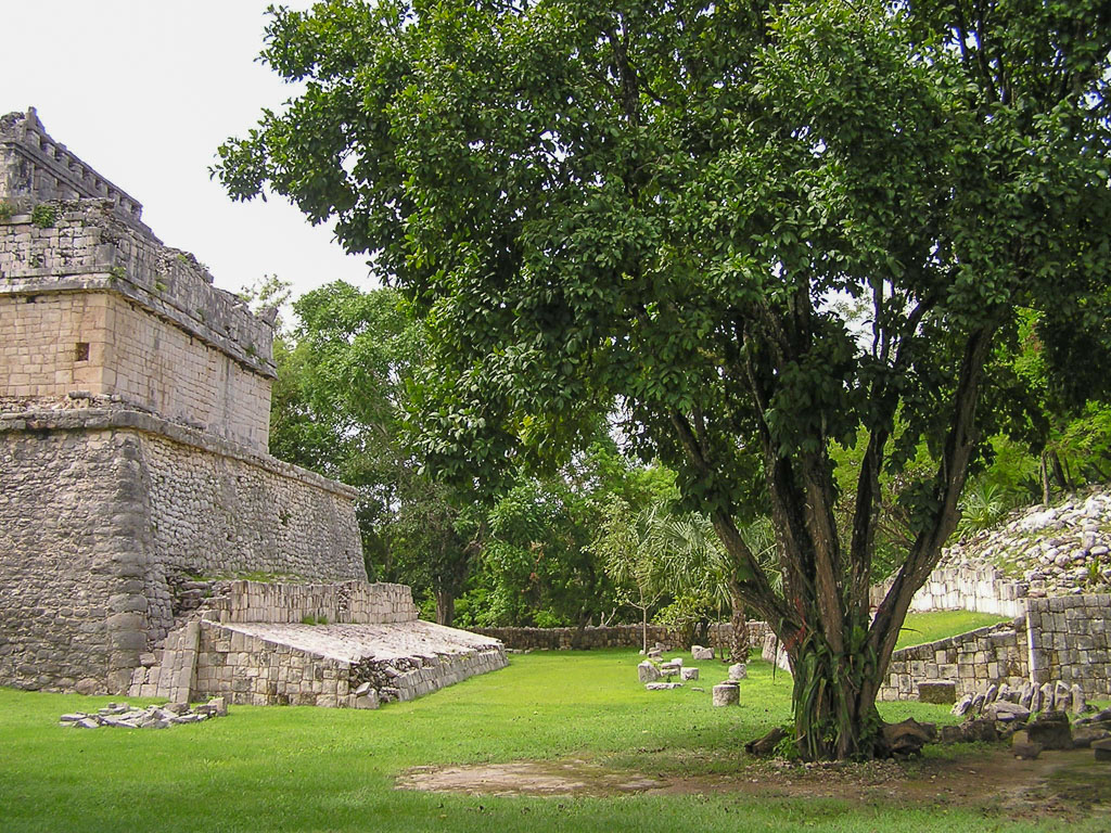 Small Ball Court at Chichen Itza. Equivalent of Spring Training?