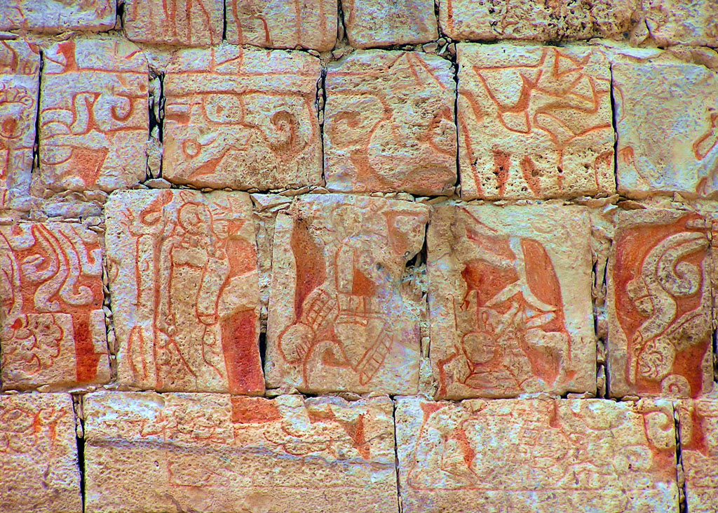 Centuries-Old Frescos by the Maya at Chichen Itza