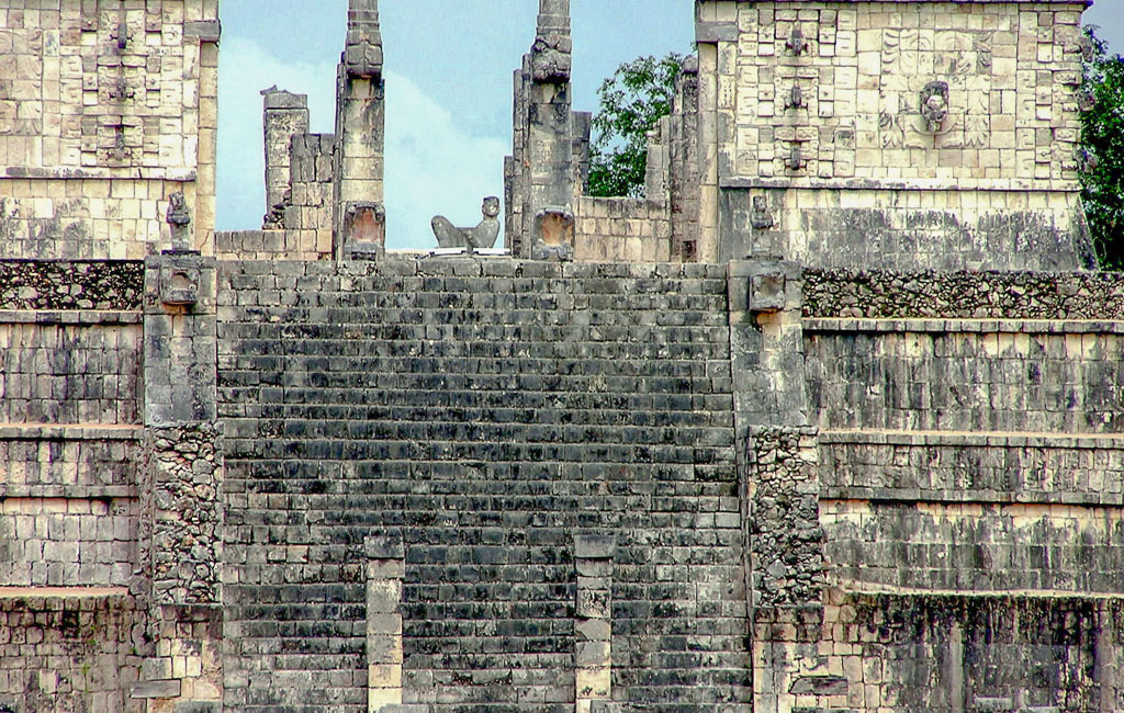 Temple of the Warriors at Chichen Itza is Dedicated to the Mayan God Chac, Known as the Bringer of Rain