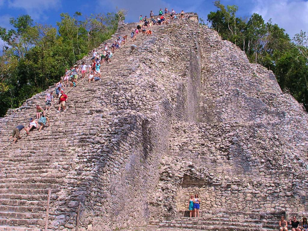 Coba - Less Well-Known Cousin of Chichen Itza Mayan Archaeological Site.