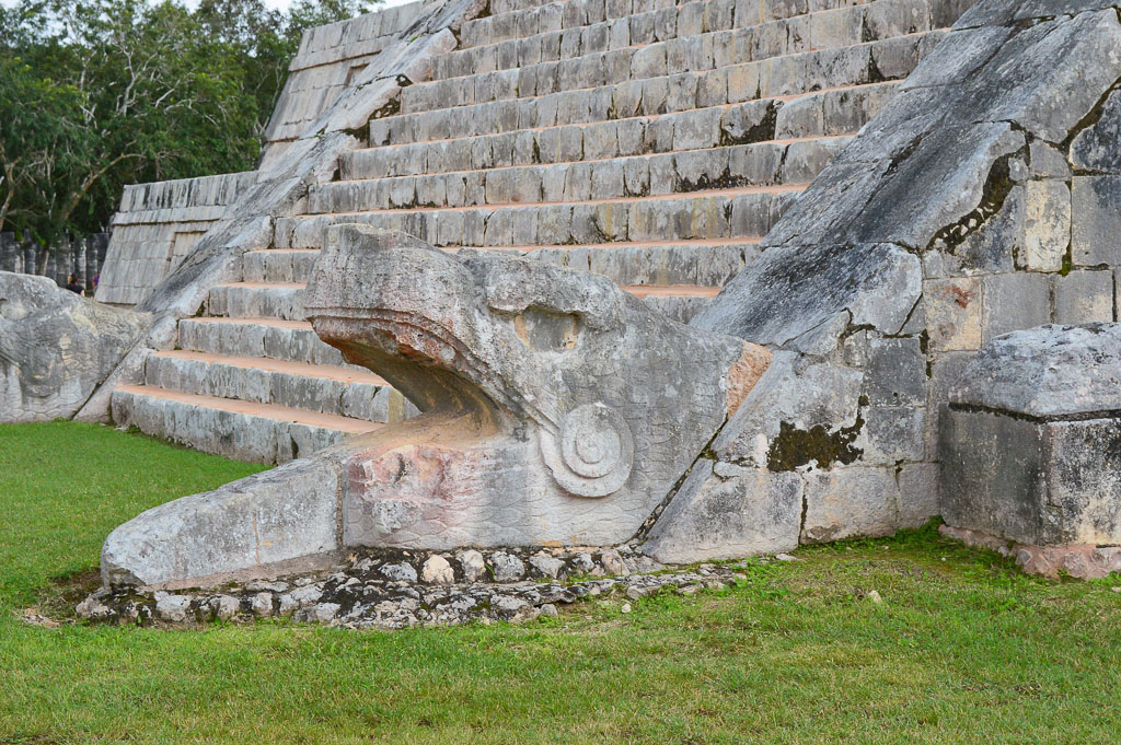 The Feathered Serpent, Kulkulkan, Descends the Pyramid at Chichen Itza