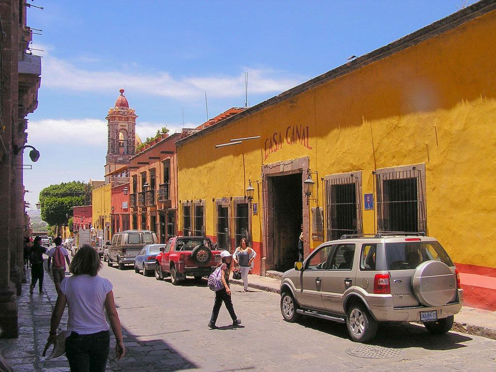 A morning stroll along the narrow cobblestone streets of San Miguel de Allende.