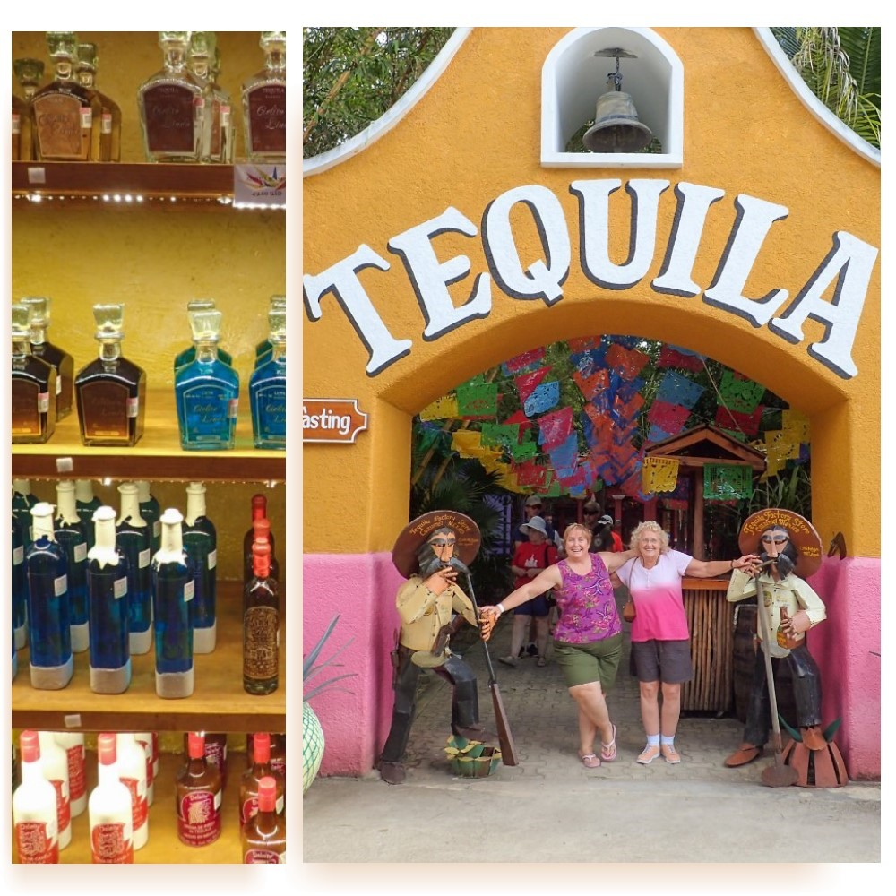 Tequila tasting at the Chankanaab Beach Adventure Park was loads of fun.
