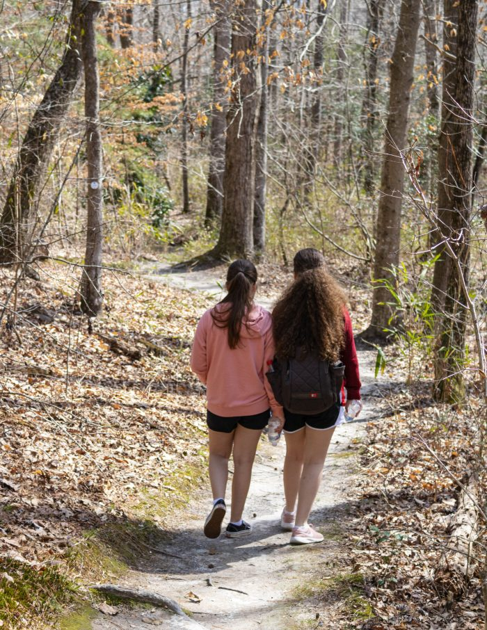 two girls hiking at Raven Rock State Park