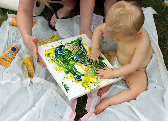 First Birthday Art Canvas