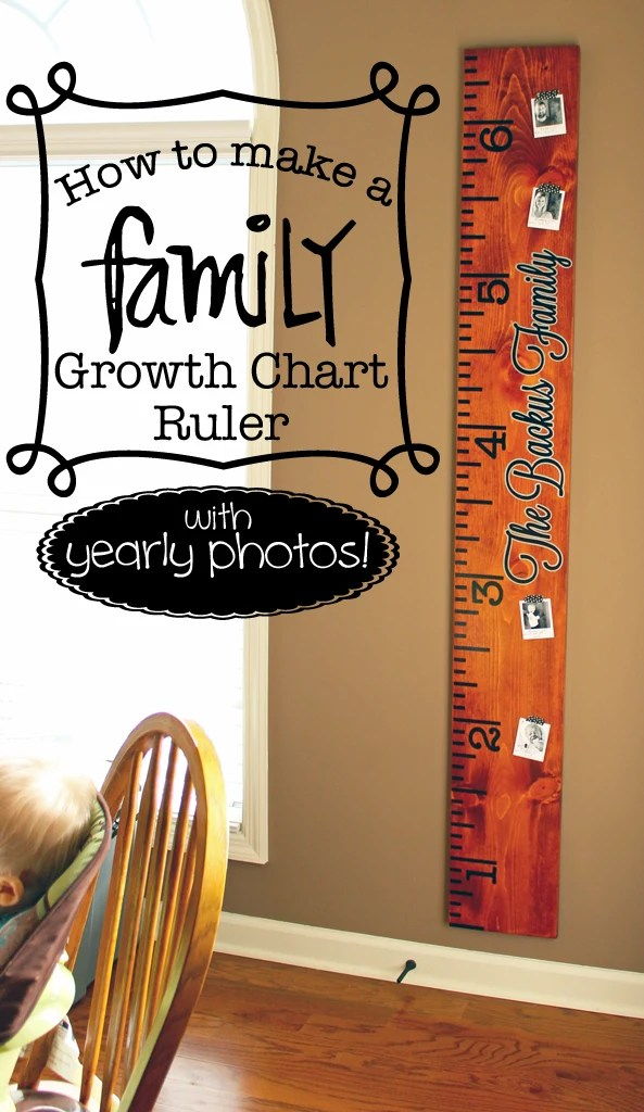how to make a family growth chart ruler with yearly photos where