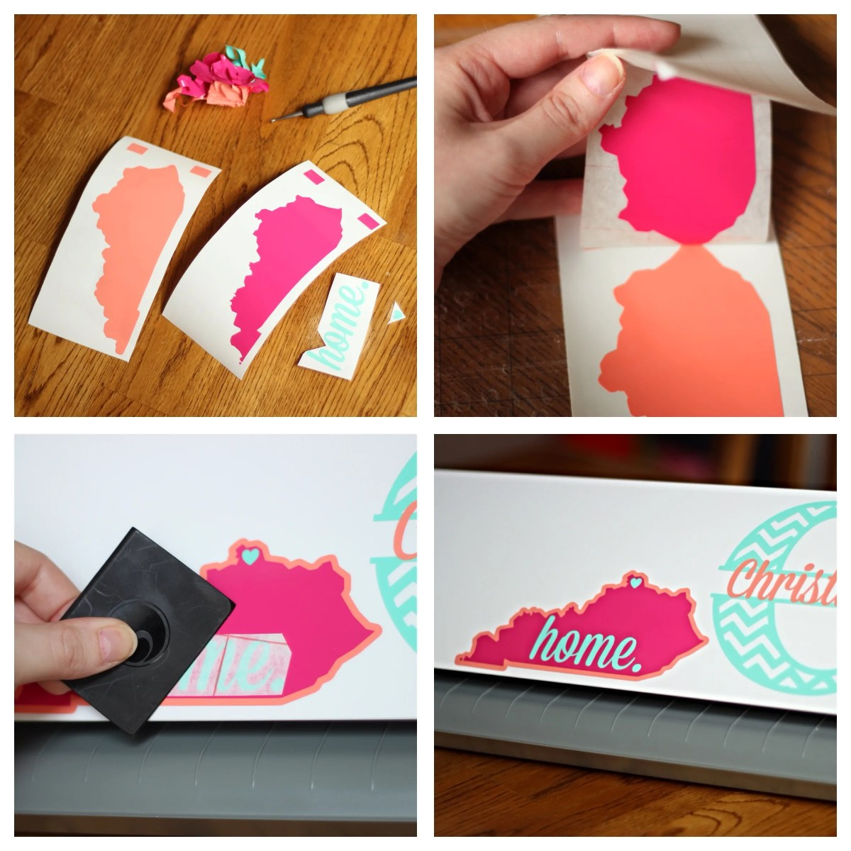 How To Layer Vinyl & Make a {Cute & Feminine} Home State Decal