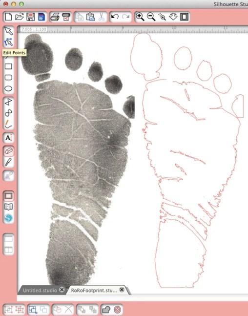 Trace & Cut Baby Footprint