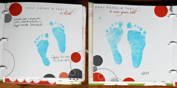 Trace & Cut Baby Footprint