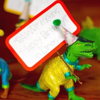 Easy DIY Party Dinosaurs!