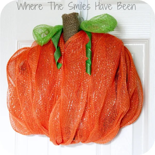 Pumpkin Wreath Tutorial | Where The Smiles Have Been