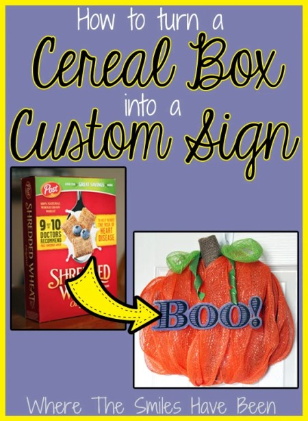 How To Turn a Cereal Box into a Custom Sign