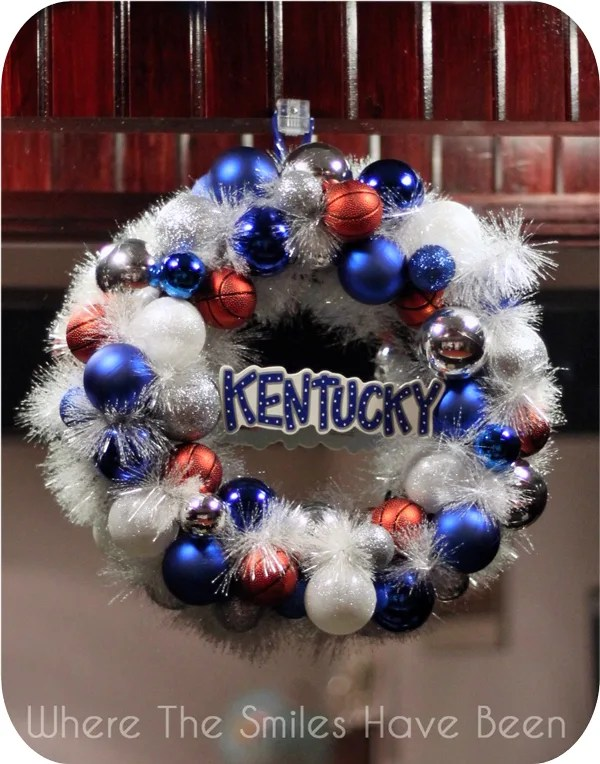 University of Kentucky Basketball Ornament Wreath