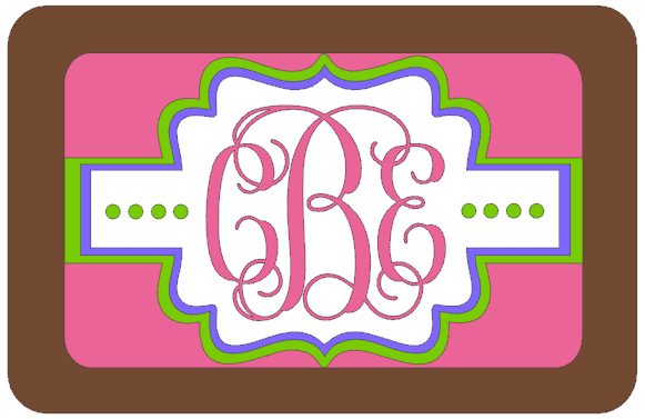 Monogram Luggage Tag Silhouette Studio Design
