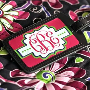 Monogram Luggage Tag (and Free Cut File)!