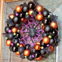 DIY Halloween Ornament Wreath for a BOOtiful Front Door!