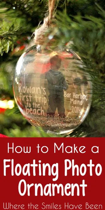 how to make a christmas photo ornament