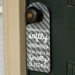 Sleeping Baby Door Hanger Tutorial and FREE Cut File