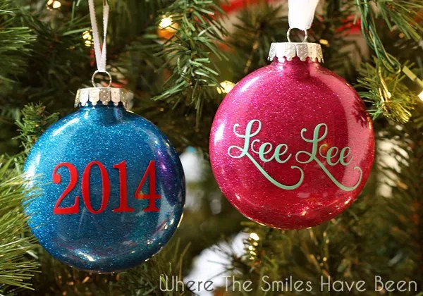 DIY Personalized Glitter Ornaments | Where The Smiles Have Been - DIY Personalized Glitter Ornaments