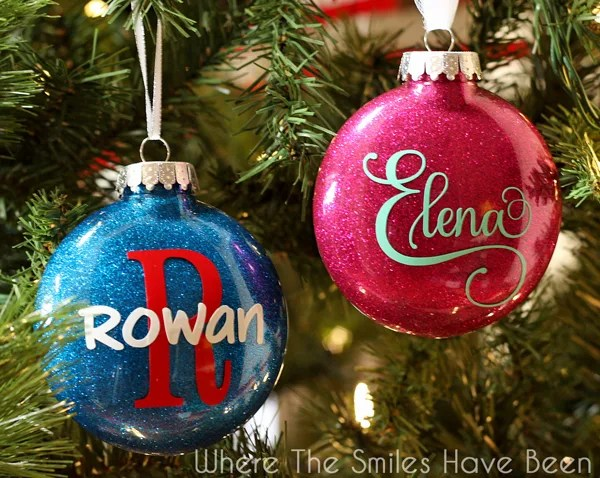 DIY Personalized Glitter Ornaments