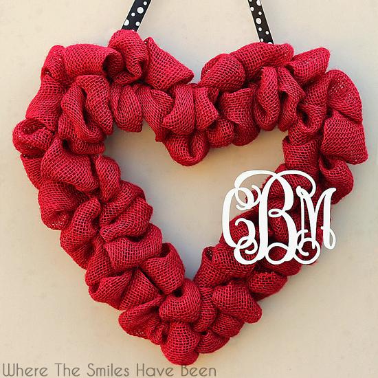 ValentinesRedBurlapWreath