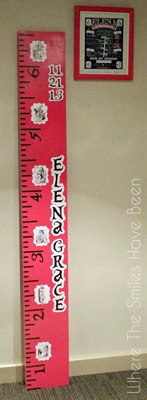 alice in wonderland growth chart ruler where the smiles have been