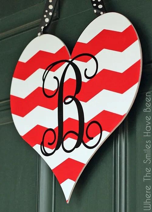 Dual-Sided Valentineu0027s Day Door Hanger | Where The Smiles Have Been & Dual-Sided Valentineu0027s Day Door Hanger