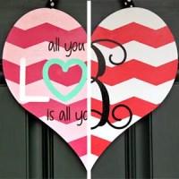 Dual-Sided Valentine's Day Door Hanger