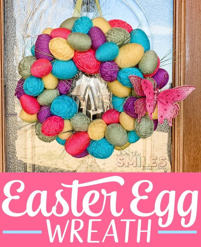 Colorful Spring Easter egg wreath
