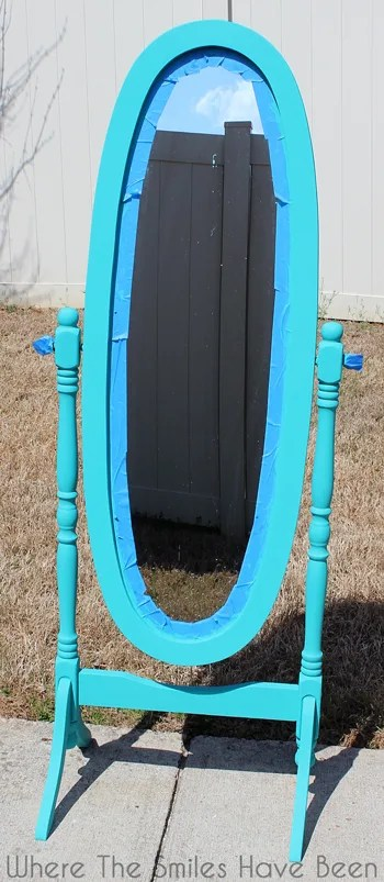 Hello Gorgeous! Mirror Makeover with Chalk Paint & Vinyl   Where The Smiles Have Been