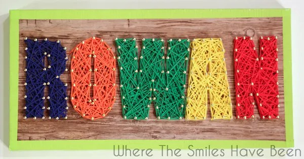 No Hammering Faux Wood String Art | Where The Smiles Have Been