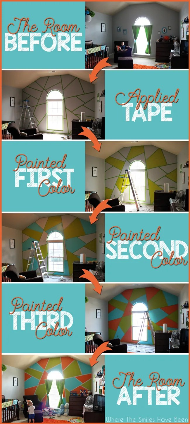 Bright and Bold Accent Wall!   Where The Smiles Have Been