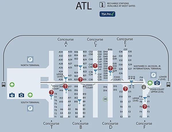 Delta Terminal at Atlanta Airport