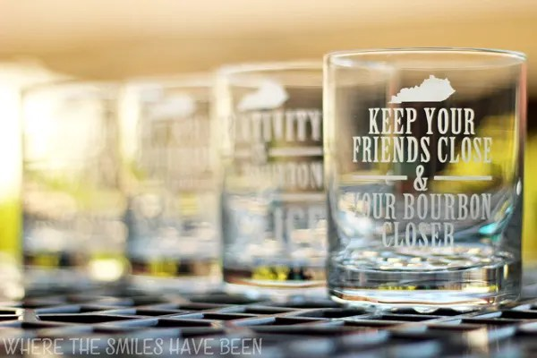 Custom Etched Glasses Using a Vinyl Stencil